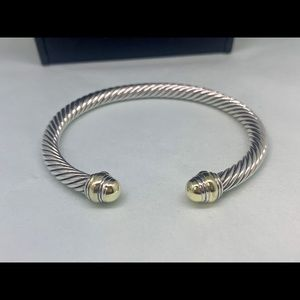 NWOT DY 5mm Cable Bracelet 14k Gold Dome